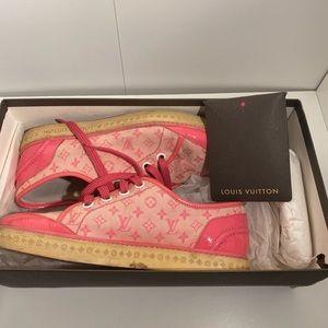 Vintage Louis Vuitton Pink Monogram Sneakers